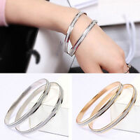Fashion Charm Women Crystal Rhinestone Gold Plated Cuff Bracelet Bangle Jewelry