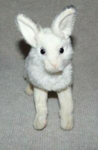 Hansa Plush Rabbit White 8 inches long