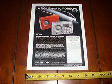 GRUNDIG PORSCHE DESIGN RADIO - ORIGINAL 2000 AD