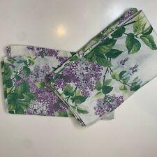 vintage pillow sham pair white purple floral print pocket closure springs brand