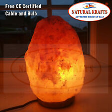 6 x Himalayan Salt Lamp 7-9 kg on Wooden Base Free UK Cable & Bulb Included