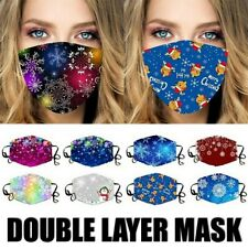 Christmas Snowflake Winter Holiday Ice Silk Reusable Washable Face Mask Cover