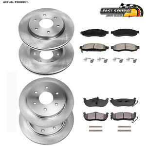 Front and Rear Brembo Brake Ceramic Pads Sets Kit for Infiniti QX56 QX80 Armada