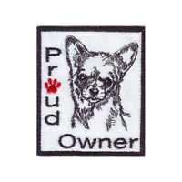 Proud Owner Chihuahua Embroidered Patch
