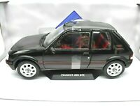 Model Car Scale 1/18 Peugeot 205 Gti diecast solido vehicles Black 205GTI