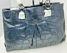 NWT_ Coach_17661_Slate Gray_Embossed Croc Leather_Carryall Bag_Purse_Satchel