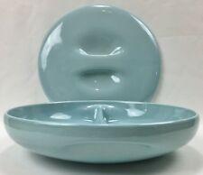 MCM Russel Wright Iroquois Casual China Ice Blue Covered/Divided Serving Dish