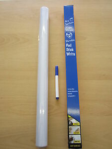45x2M WhiteBoard WHITE DRY WIPE PEN ERASE BOARD WALL STICKE VINYL SELF ADHESIVE