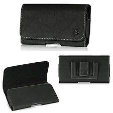 Black Suede Leather Pouch Holster fit iPhone SE 5S 5 5C with LifeProof FRE case