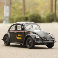 Batman VW Beetle 1:32 Model Car Diecast Gift Toy Vehicle Kids Black Collection