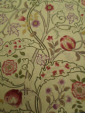 William Morris Curtain Fabric 'Mary Isobel' 3.1 METRES 310cm Red/Gold 100% Linen