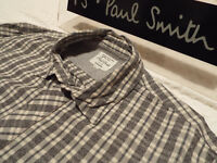 "PAUL SMITH Mens Shirt 🌍 Size S (CHEST 40"") 🌎 RRP £95+📮 RED EAR COOL CHECKS"