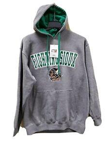 UND mens SMALL Fighting Sioux Hoodie Hooded Sweatshirt North Dakota NEW Gray SM