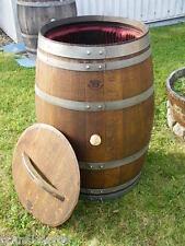 """225L Weinfass Regentonne,  mit Deckel aufgearbeitet und geölt  in """"Palisander"""""""
