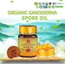 Organic Ganoderma, Reishi Spore Oil 100% pure 30 x 500mg softgels