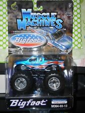 Muscle Machine Monster Truck BIG FOOT 1:64 Scale Red, White and Blue w/ Stars