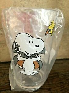 Pottery Barn Kids Snoopy Woodstock Halloween tumbler glass Cup Dracula New