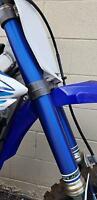 Fork Skins Graphics Blue Brushed Aluminum Covers Yamaha YZ 250F 450F 125 250 X
