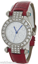 Peugeot Women's 3140S Crystal Accented Case White Dial 2 Leather Strap Watch