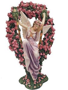 "SHEILA WOLK  ""GATEKEEPER"" Angel Fairy with Roses 7132 10""   NOS"