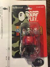 Be@rbrick Medicom Toy Bape Play 1st shark Camo Ver 100% Bearbrick Rare Red