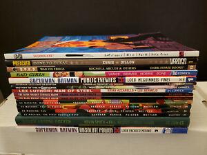 Lot 16 Graphic Novels DC, Dark Horse, Wildstorm, Vertigo, Batman Superman
