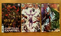 CAPTAIN MARVEL #14 2020 Brooks Main, Marvels X, + In-Hyuk Lee Connecting NM+