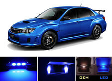 Ultra Blue Vanity / Sun visor LED light Bulbs for Subaru Impreza WRX STI 4 Pcs