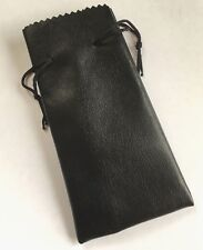 Wood Smoking Pipe Tobacco PU Leather Effect Pouch New