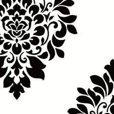 York  White and Black Scattered  Damask Wallpaper - BW28736