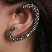 Fashion Crystal Snake Clip Ear Cuff Stud Women Punk Wrap Cartilage Earrings GiJC