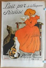 Milk & Cats. Lithograph after Theophile Steinlen published 1968 limited edition