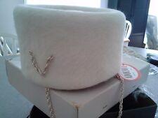 VINTAGE ADOLFO II NEW YORK PARIS WOMEN'S PILLBOX-STYLED HAT / VINTAGE BOX  RARE!