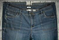 Liz & Co Claiborne Denim Stretch Zipper Fly Denim Blue Jeans Womens Size 12