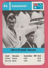 German Trade Card 1968 Olympics 100m Swimmer Gold Medal Winner Michael Wenden