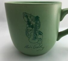 Elvis Presley Green Guitar Mug Cup Coffee Music Records 10 Oz Rock Roll