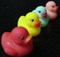 Multicolor 12 Swimming Rubber Squeeze Squeak Ducks Baby Kids Children Bath Toys
