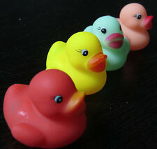 Multicolor 12 Swimming Rubber Squeeze Squeak Ducks Baby Kids Children Bath Toys
