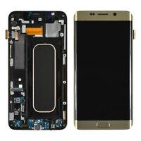 Samsung Galaxy S6 Edge Plus G9280 A i T V LCD Screen Digitizer Frame Gold White