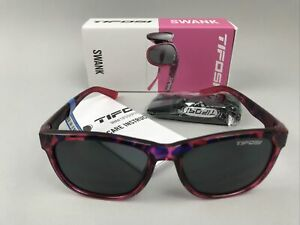 TIFOSI Swank 1500406770 Sunglasses, PINK CONFETTI w/ Grey Lens, Cat. 3 - NEW