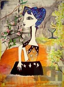 Pablo Picasso Inspired Original Painting to order - Jacqueline In Paris