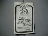 Star Wars Vintage Micro Collection Hoth Turret Defense Playset Instructions 1982