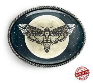 Celestial Magic Death Head Moth Alchemy Handmade Artisan Belt Buckle