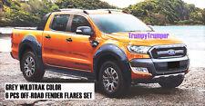 GREY WILDTRAK OFF-ROAD FENDER FLARES FORD NEW RANGER MK2 PX2 2015 2016 2017 K