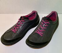 ECCO Bios Womens SZ 38 US SZ 7 7.5  Athletic Shoes Leather Gray Pink Fast Ship
