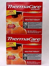 ThermaCare Heatwraps Neck Pain Up to 16 Hour Relief 3 Wraps Exp 01/19 + LOT OF 2