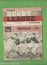 #QQ. THE RUGBY LEAGUE NEWS, 11-12th April 1970, Easts vs St.George Cover