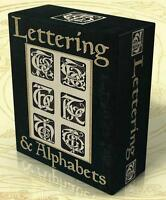 LETTERING, ALPHABETS, MONOGRAMS 76 Vintage books on DVD! Penmanship Sign-writing