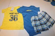 NEW NWT Boys 12 month Carter's 3 Piece Shorts Set moms mvp