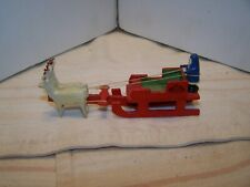 Erzgebirge Santa Clause in Sleigh Christmas Toy Made in Germany
